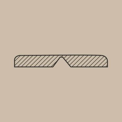 Esquinero horizontal 30x5 mm