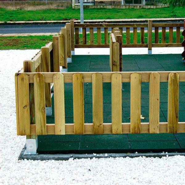 Vallas de madera zonas infantiles