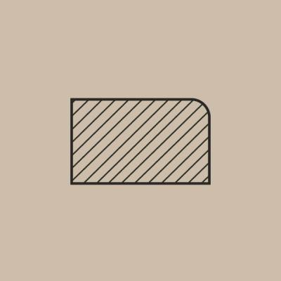 Moldura MDF de 25x15 mm